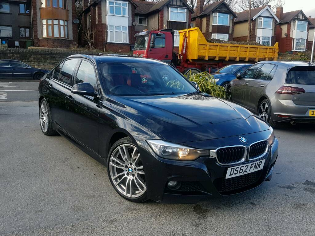 2013 bmw 3 series 320d m sport manual 4 door black new shape red leathers sat nav f s h hpi. Black Bedroom Furniture Sets. Home Design Ideas