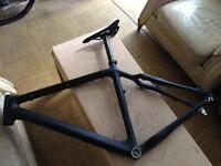 Full carbon mountain bike frame.