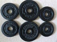 Crane Gym Weights 2 x 2kg, 4 x 1kg cast iron weights