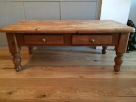 Solid pine coffee table shabby chic