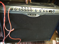 Line 6 spider ii 212 guitar amp, 150w with pedal