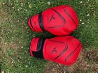 Various boxing gloves,pads ,boots size 9 and box