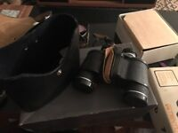 REDUCED PRICE vintage Binoculars with real leather case made in USSR