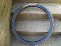continental vertical 26 x 2.3 mountain bike tyre , with inner tube
