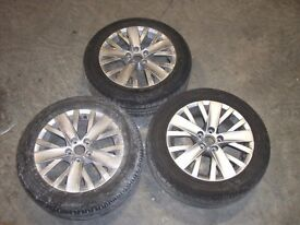 Volkswagon VW alloys with tyres