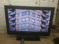 """for sale 32"""" hd lcd widescreen tv with freeview and remote £45"""