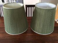 Sage Forest Green Lampshades x 2