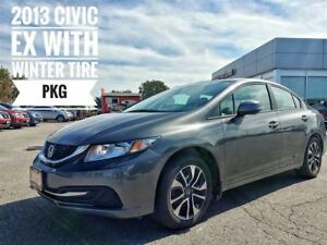 2013 Honda Civic EX with Winter Tires!!!  FREE Delivery