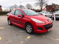 Peugeot 207 1.4 HDi S 3dr (a/c) LONG MOT LOW MILEAGE CHEAP INSURANCE