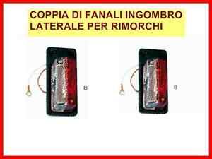 COPPIA-DI-FANALI-INGOMBRO-LATERALE-BIANCO-ROSSO-x-RIMORCHI-ACCESSORI-RIMORCHI