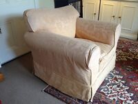Two large armchairs for sale: available singly or as a pair