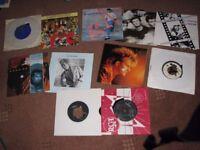 Vinyl lp's and singles.