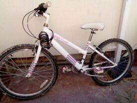 BIKE TEENAGE GIRL OR SMALL LADY NEEDS ATTENTION BEEN LEFT OUT SIDE
