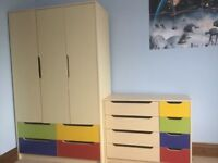 Bedroom furniture - children's wardrobe, drawers and desk