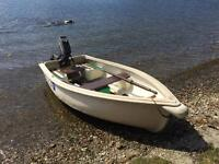 8' Boat , 2.5Hp Outboard