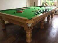 Magnificent Full-Size Oak Snooker Table