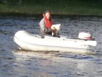 waveline265 ,with marina 4 hp 2 stroke engine is as new seldom used in fresh water