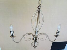 ANTIQUE BRASS GOTHIC 3 LIGHT (PAGAZZI) WITH BULBS