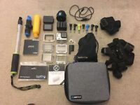 Gopro Hero 4 Black With Accessories and SD Card.