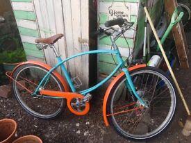 """Pashley tube rider hybrid bike 5 speed 19"""" frame 26"""" alloy wheels hub brakes"""