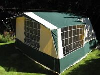 Cabanon Frame Tent, 2 sleeping areas plus additional large living/sleeping space.