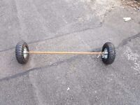 Training wheels for a kids motobike