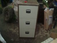 3 draw steel filing cabinet