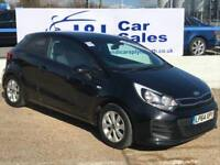 KIA RIO 1.2 SR7 3d 83 BHP A GREAT EXAMPLE INSIDE AND OUT (black) 2015
