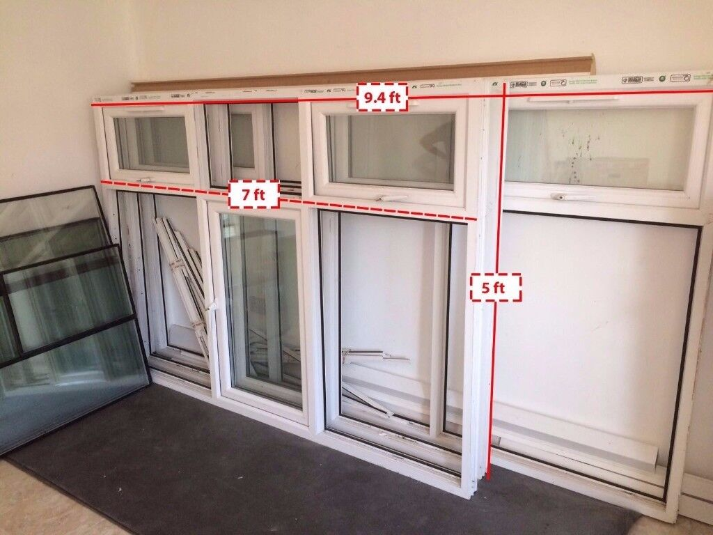UPVC Casement X3 with toughened double glasses and all accessories