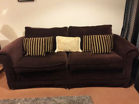 2 x Great Quality Comfy Sofas in Brown, Two Seaters