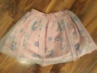 Next girls flower tutu style skirt, nearly new age 8 years