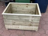 Wooden treated planters x2