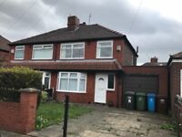 Three bed semi detached house with drive and private garden