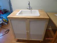 """Ikea """"Annaboda"""" Sink unit/cupboard in Beech"""