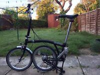 Brompton bike M3L, nearly new, black, for sale