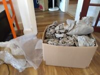 Bunch of packaging paper