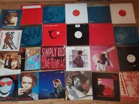 """39 x simply red vinyl collection LPs / 12 inch/ 7"""""""