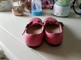 Next pink leather shoes size 5