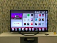 "Lg 50"" HD 3D LED Smart Tv with additional soundbar included"