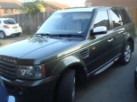 RANGE ROVER SPORT 2.7 DIESEL AUTO HSE, 55REG, MET GREEN, FULL LEATHER, ALLOYS ,