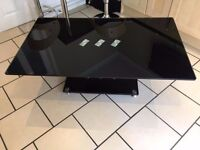 Black and Chrome coffee table.