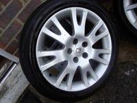 "Renault Laguna II 17"" Silverstone Alloy Wheels x4 with tyres"