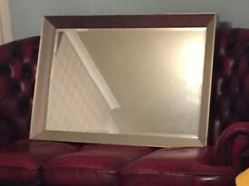 Large distressed silver quality mirror
