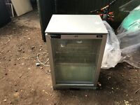 Small glass door fridge