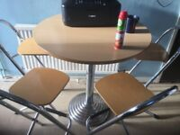 Bargain for sale bar table with 4 good bar stools bargain £110