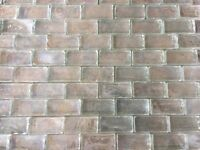 4 Sheets of Fired Earth Oyster Mosaic Fresh Pearl Rectangle tiles
