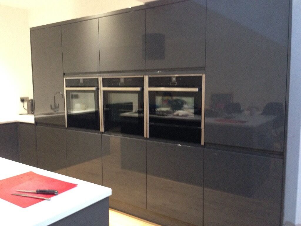 Wren charcoal grey kitchen units in allestree for Tall fitted kitchen unit