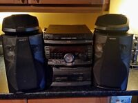 Sony RX90 disc exchange mini hifi system