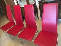 4 modern dining chairs