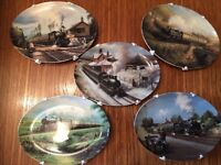 """Railway Memories"" Wedgwood collectible plates"